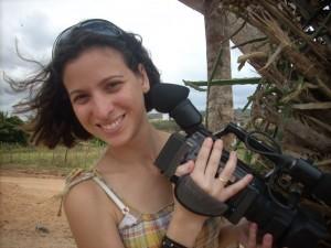 produzindo vídeo para os índios kaimbes, quando era integrante da Kabum Novos Produtores
