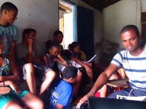 Oficina em Camamu em 2010 sobre comunicação com jovens de assentamentos