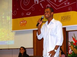 Seminário Estúdio Aprendiz em 2013, representando a Cipó