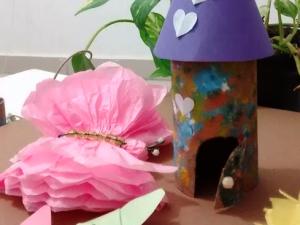 Joice Ribeiro - produção com peças artesanais feitas com material reciclável